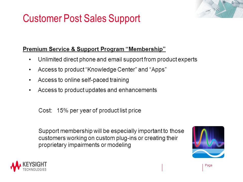Customer Post Sales Support