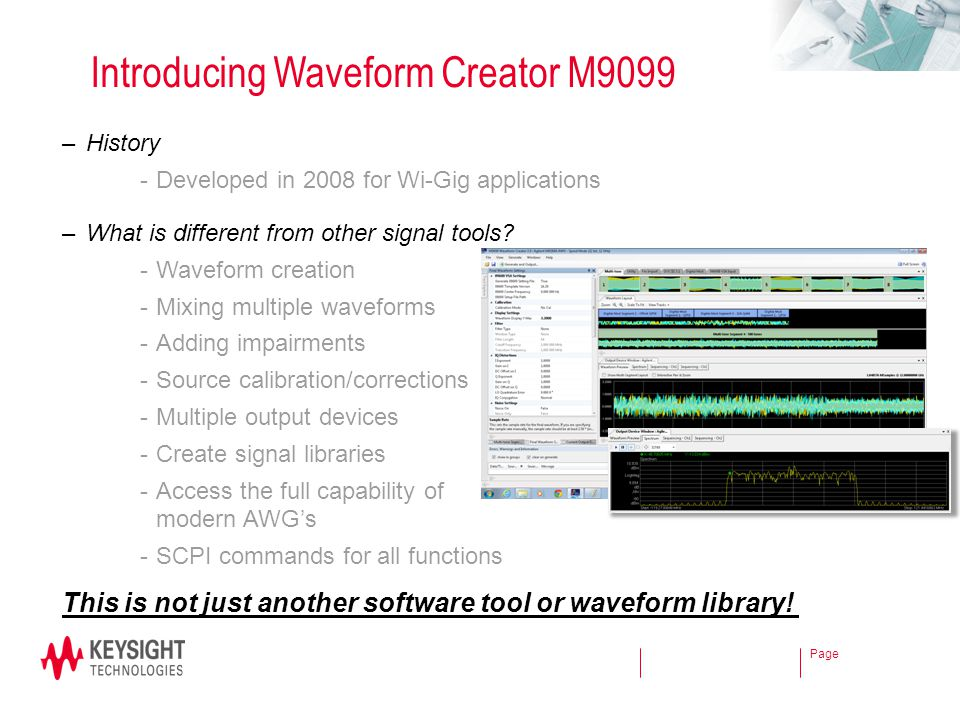 Introducing Waveform Creator M9099