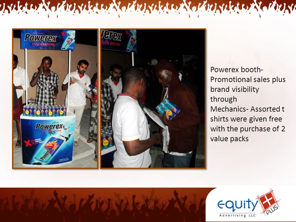 Powerex booth- Promotional sales plus brand visibility through