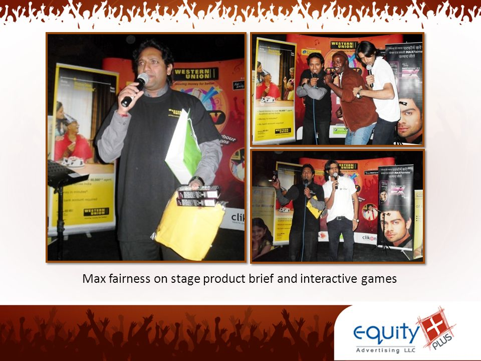 Max fairness on stage product brief and interactive games