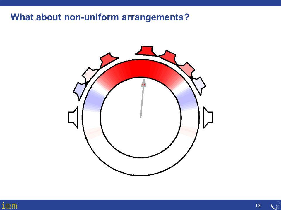 What about non-uniform arrangements