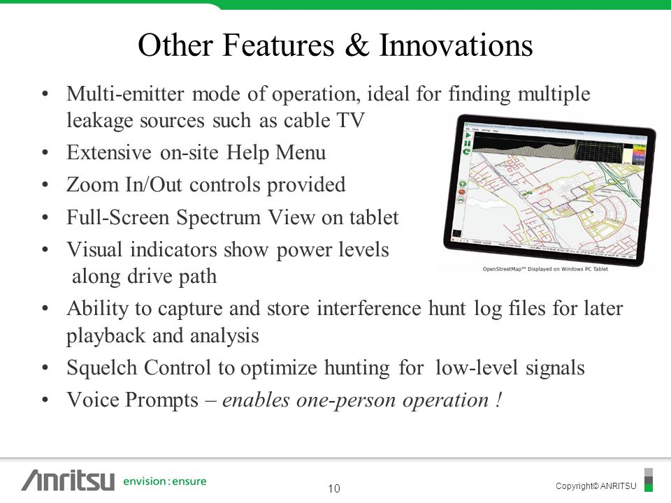 Other Features & Innovations