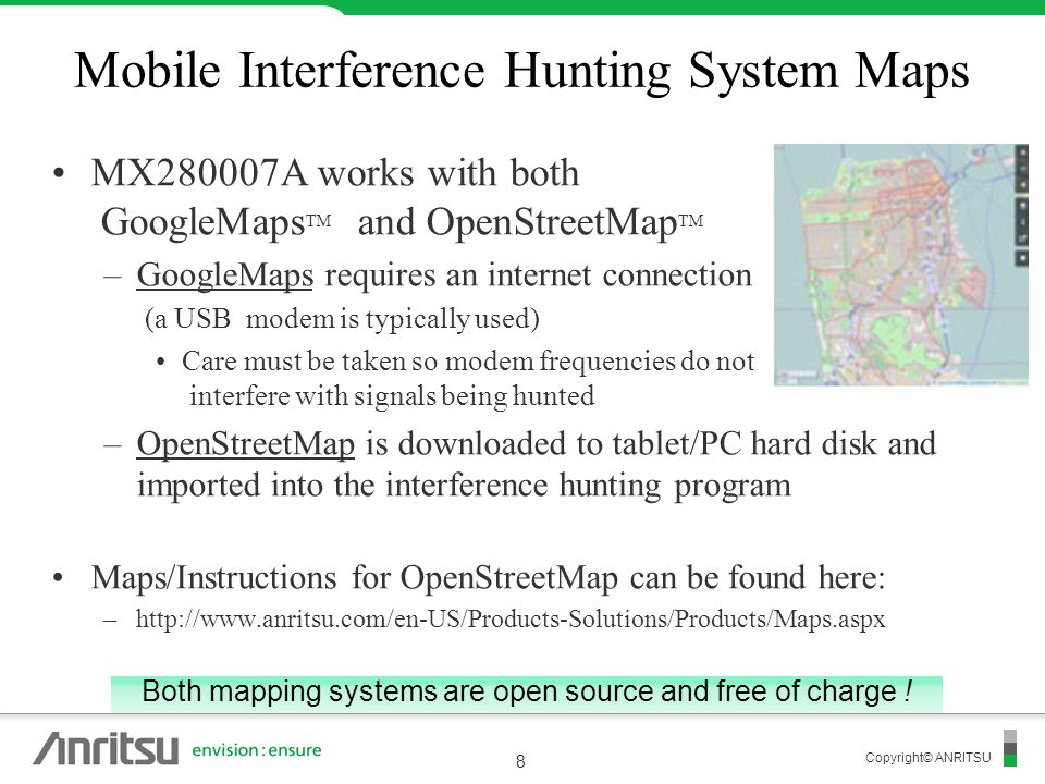 Mobile Interference Hunting System Maps