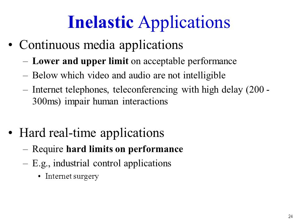 Inelastic Applications