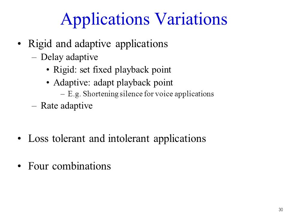 Applications Variations