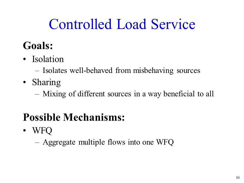 Controlled Load Service