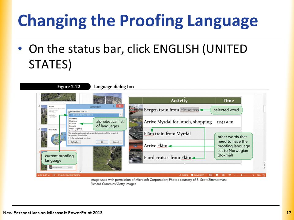 Changing the Proofing Language