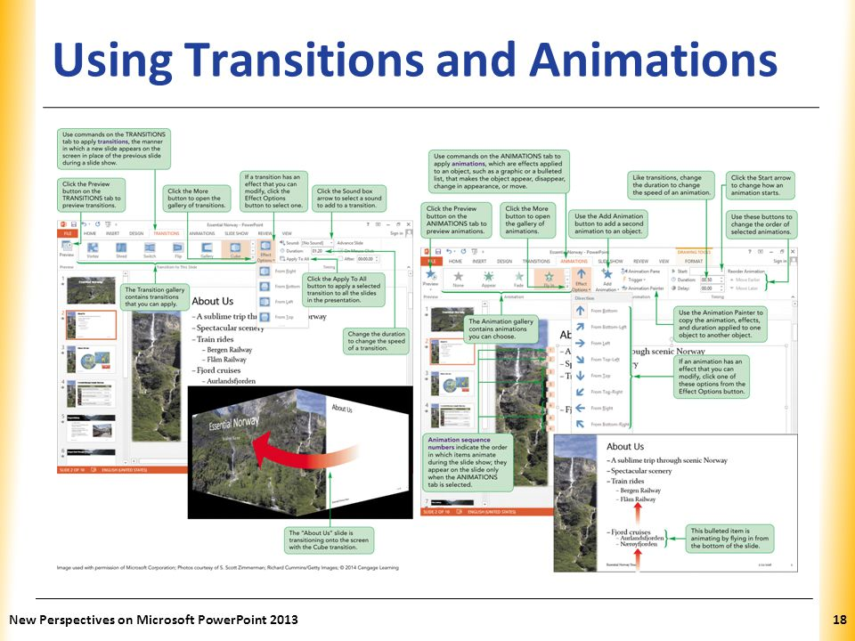 Using Transitions and Animations