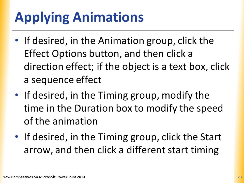 Applying Animations