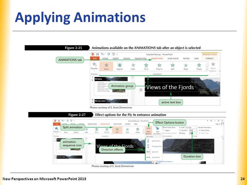 Applying Animations New Perspectives on Microsoft PowerPoint 2013