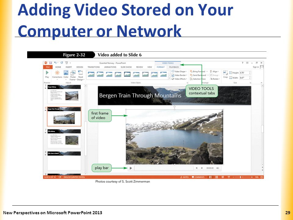 Adding Video Stored on Your Computer or Network