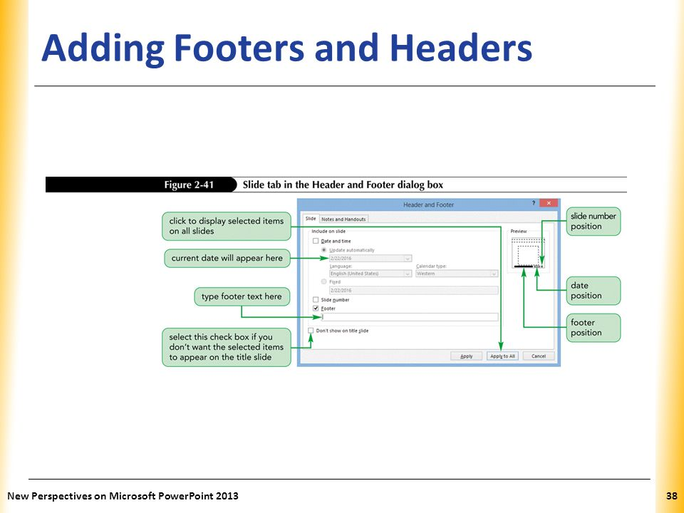 Adding Footers and Headers