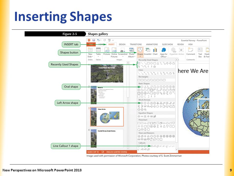 Inserting Shapes New Perspectives on Microsoft PowerPoint 2013