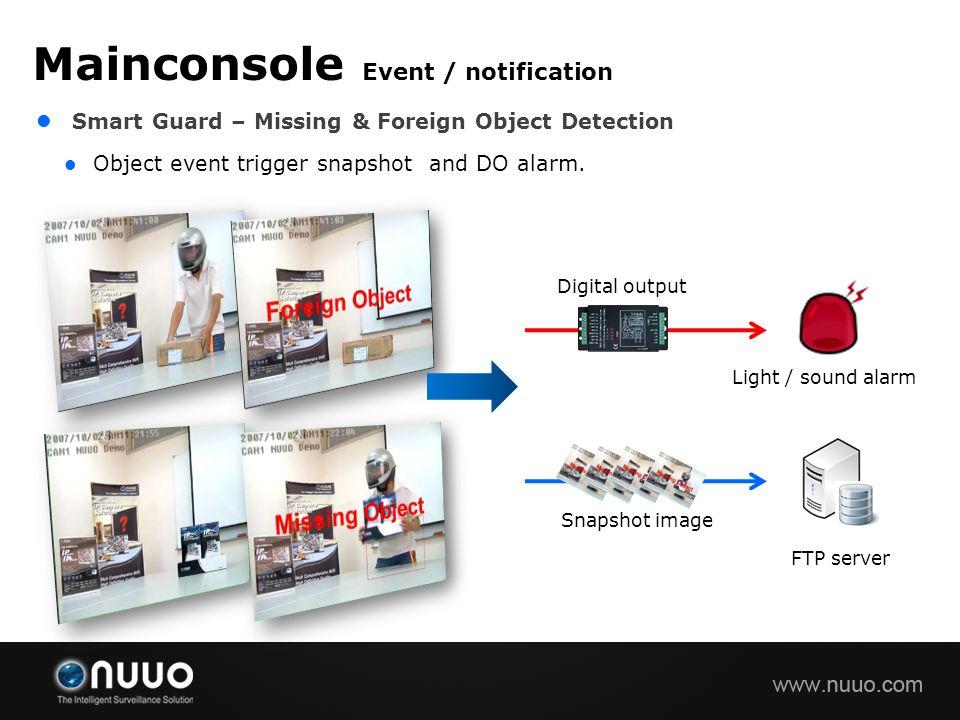 Mainconsole Event / notification