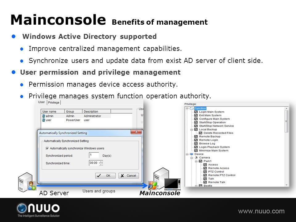 Mainconsole Benefits of management