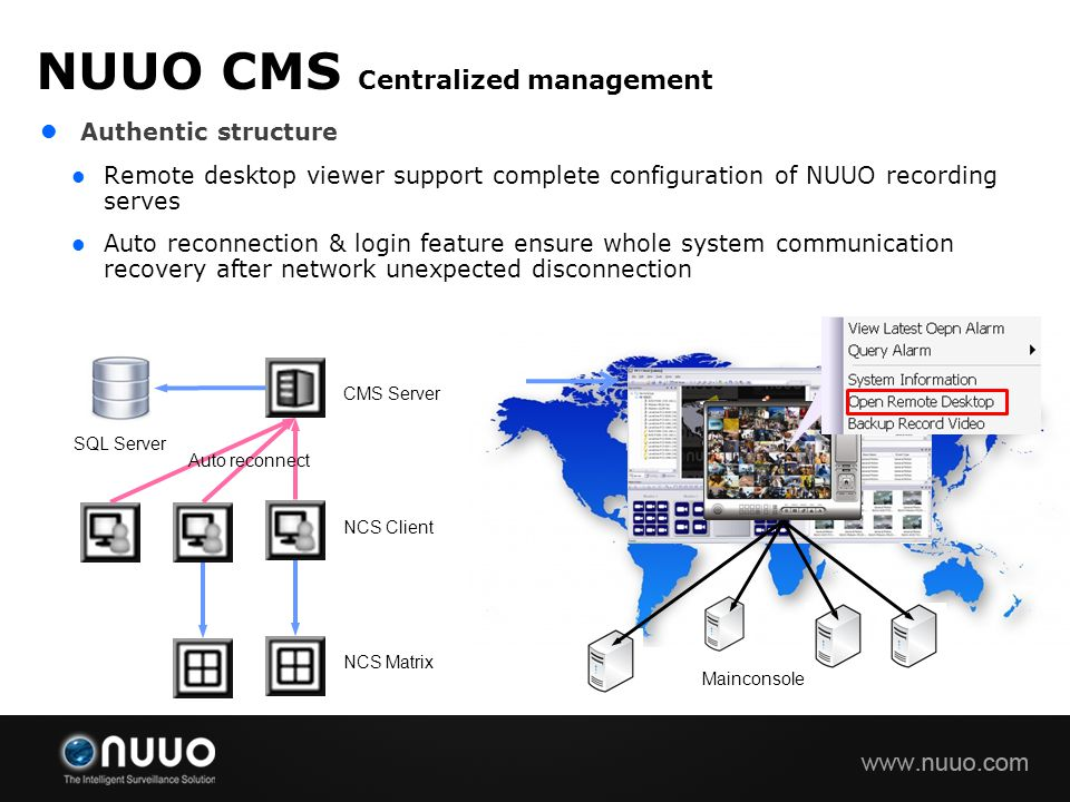 NUUO CMS Centralized management