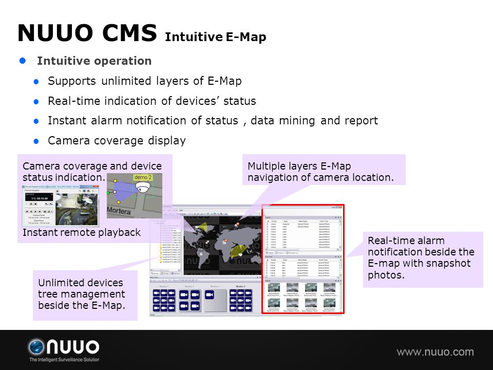 NUUO CMS Intuitive E-Map