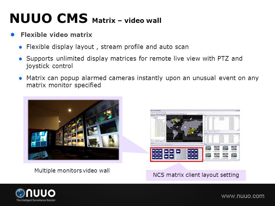 NUUO CMS Matrix – video wall