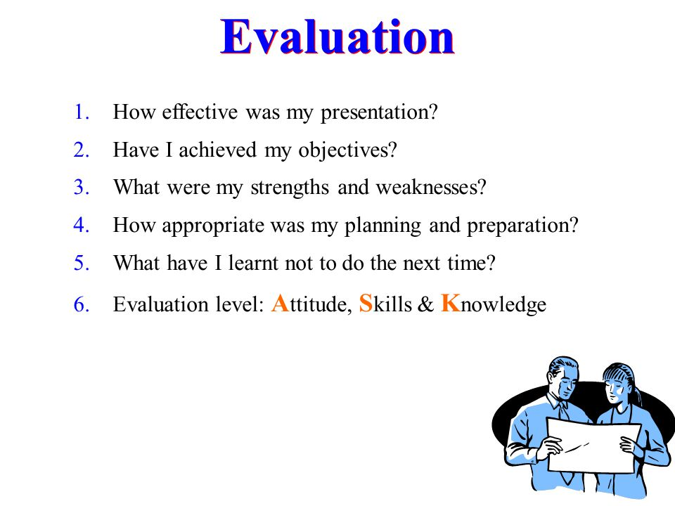 Evaluation How effective was my presentation