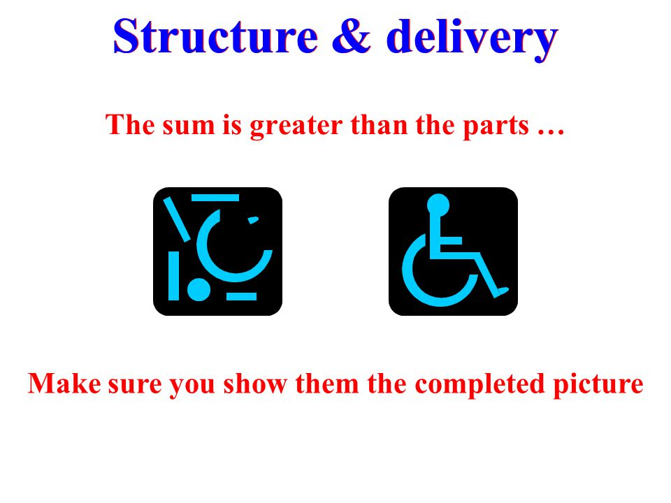 Structure & delivery The sum is greater than the parts …