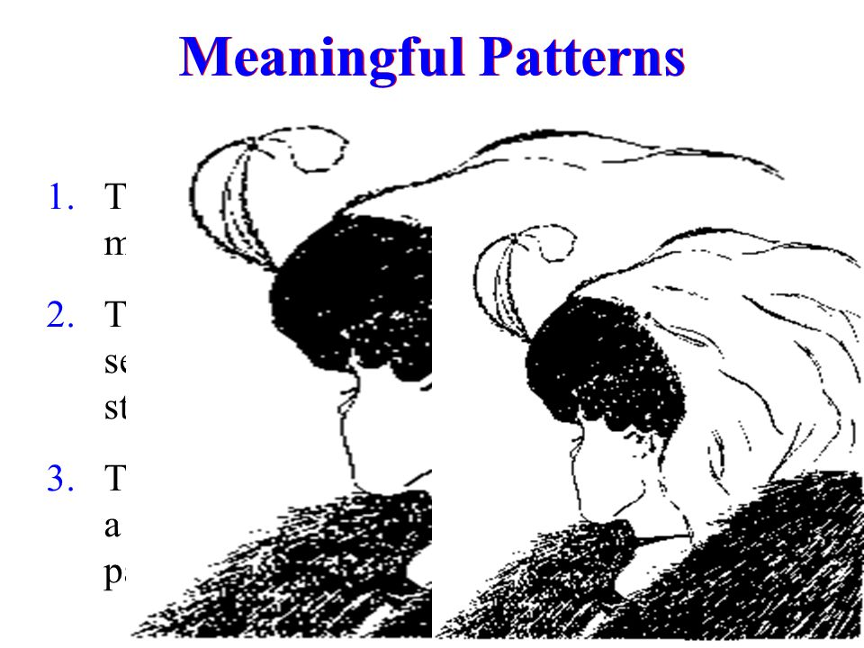 Meaningful Patterns The brain likes to make sense of data.