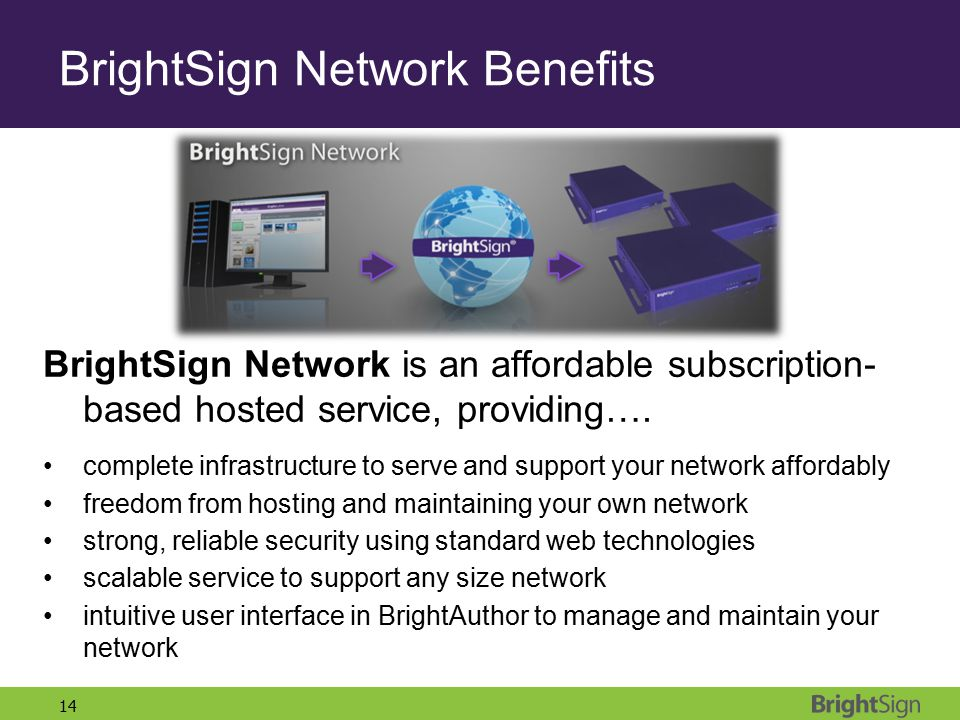 BrightSign Network Benefits