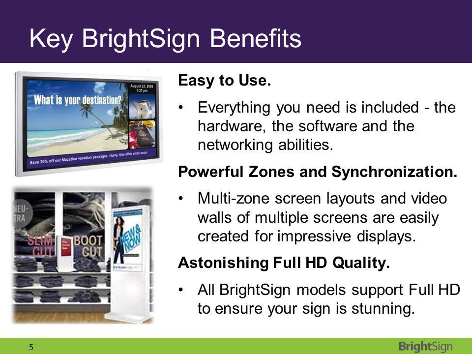 Key BrightSign Benefits
