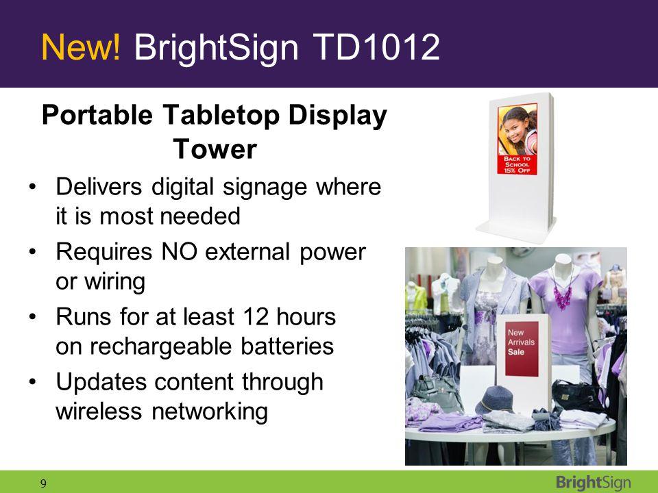 Portable Tabletop Display Tower