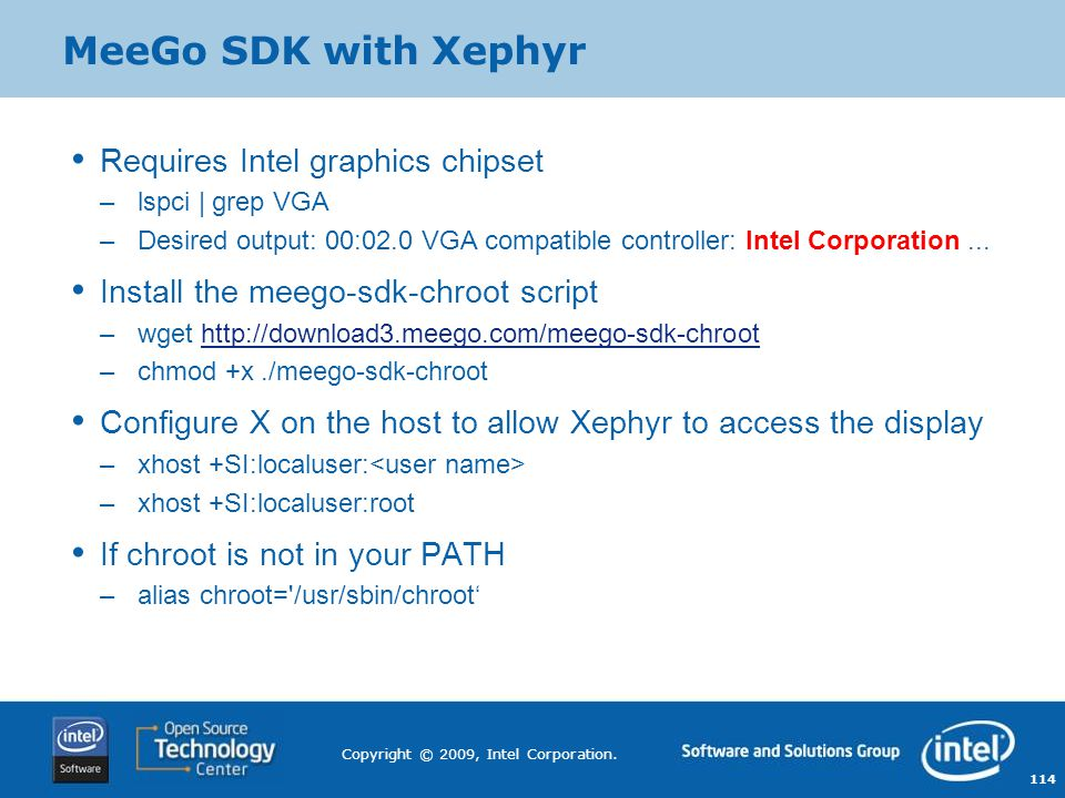 MeeGo SDK with Xephyr Requires Intel graphics chipset