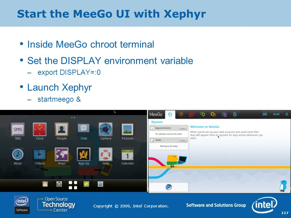 Start the MeeGo UI with Xephyr