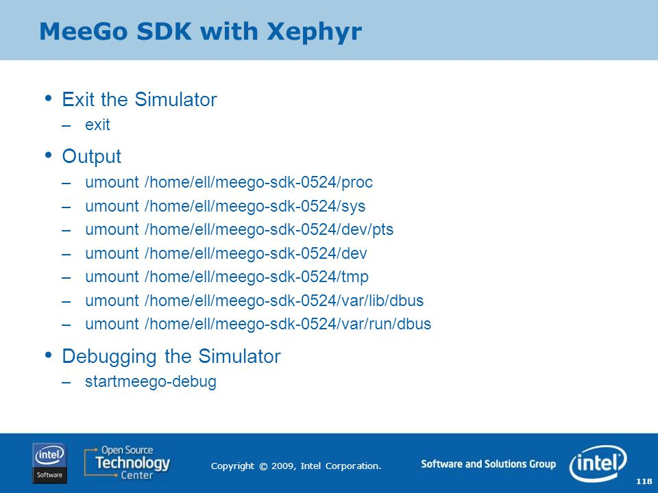 MeeGo SDK with Xephyr Exit the Simulator Output