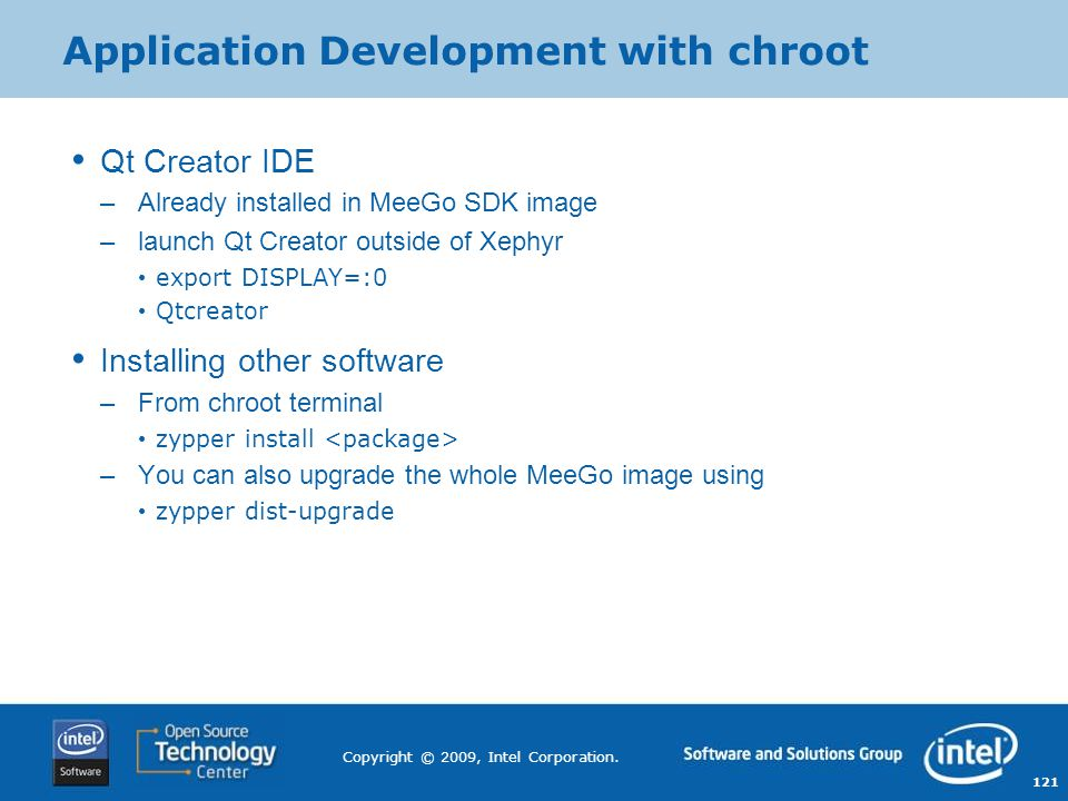 Application Development with chroot