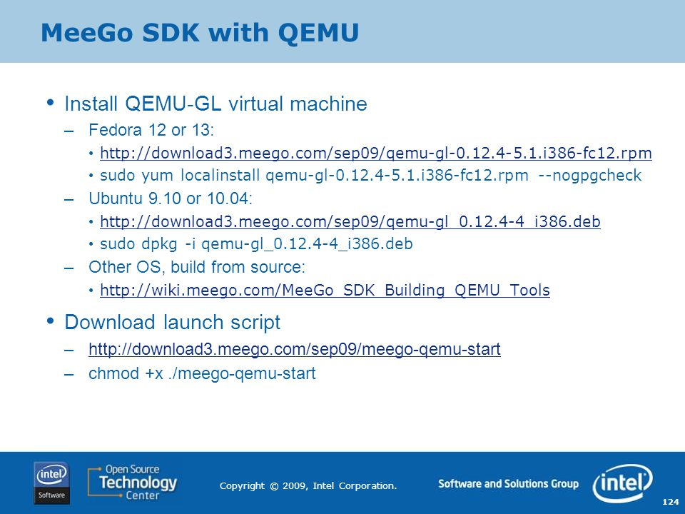MeeGo SDK with QEMU Install QEMU-GL virtual machine