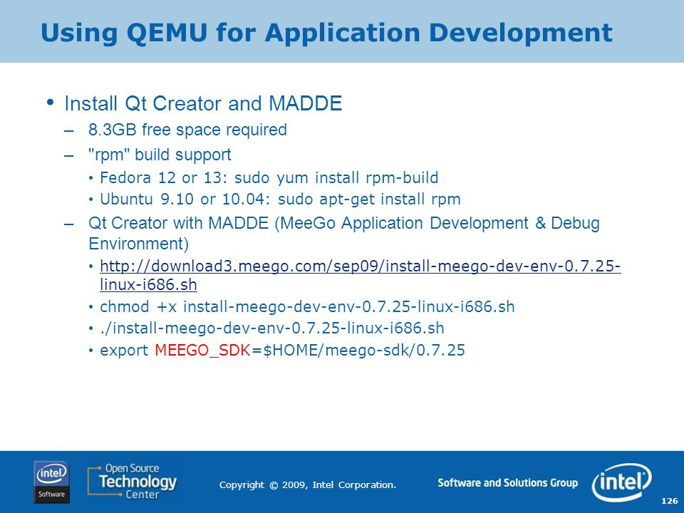 Using QEMU for Application Development