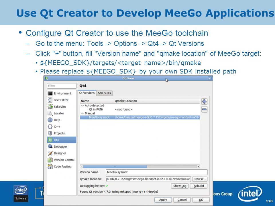 Use Qt Creator to Develop MeeGo Applications