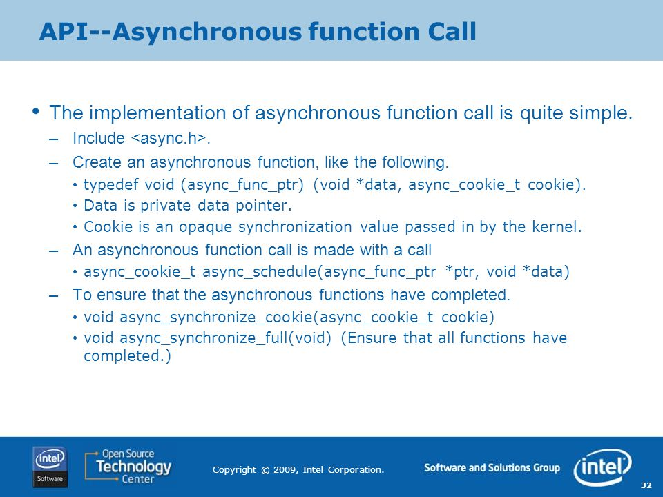 API--Asynchronous function Call