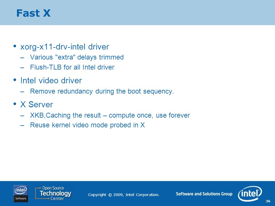 Fast X xorg-x11-drv-intel driver Intel video driver X Server