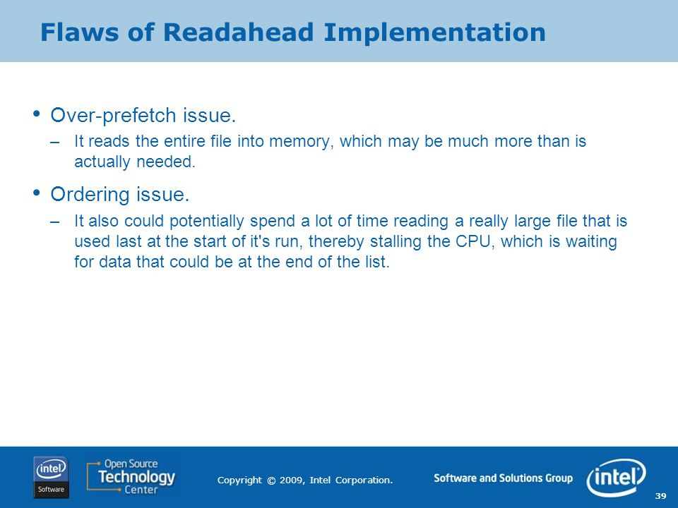 Flaws of Readahead Implementation