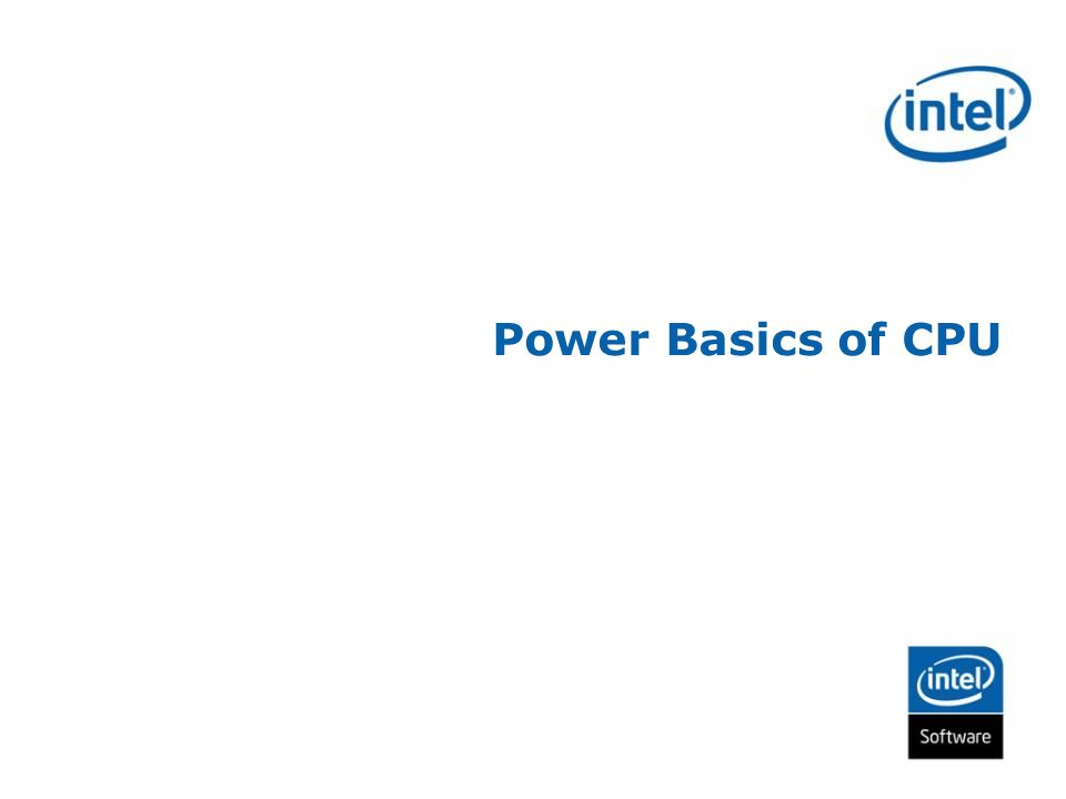 Power Basics of CPU