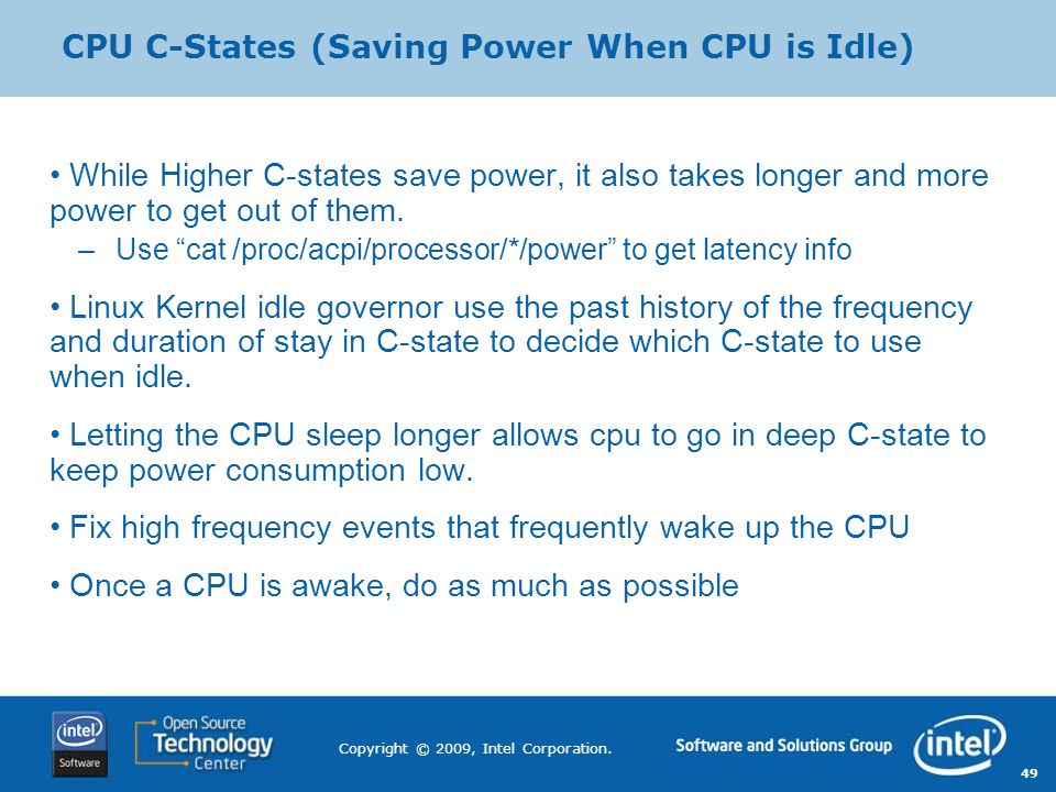 CPU C-States (Saving Power When CPU is Idle)