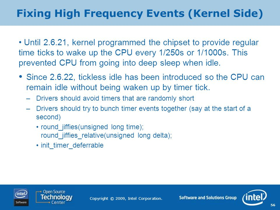 Fixing High Frequency Events (Kernel Side)