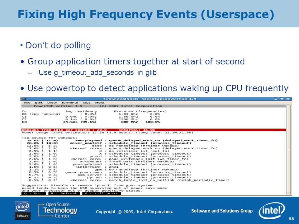 Fixing High Frequency Events (Userspace)