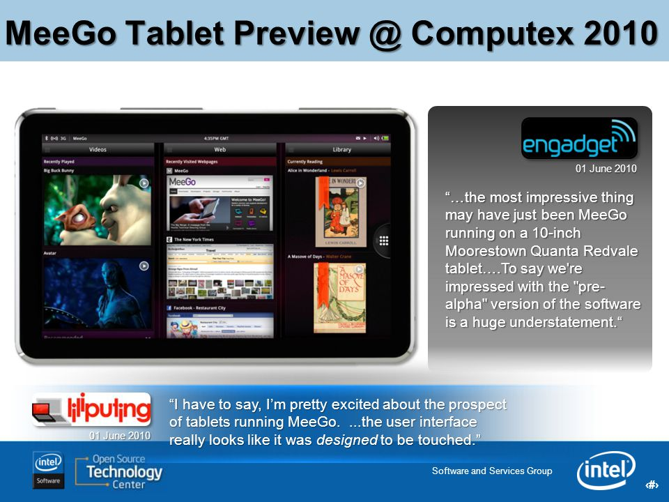 MeeGo Tablet Preview @ Computex 2010