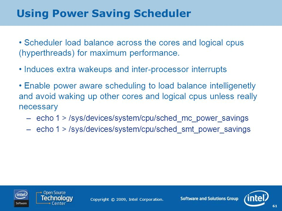 Using Power Saving Scheduler