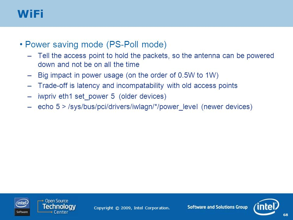 WiFi Power saving mode (PS-Poll mode)