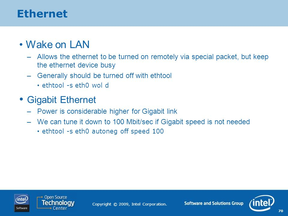 Ethernet Wake on LAN Gigabit Ethernet