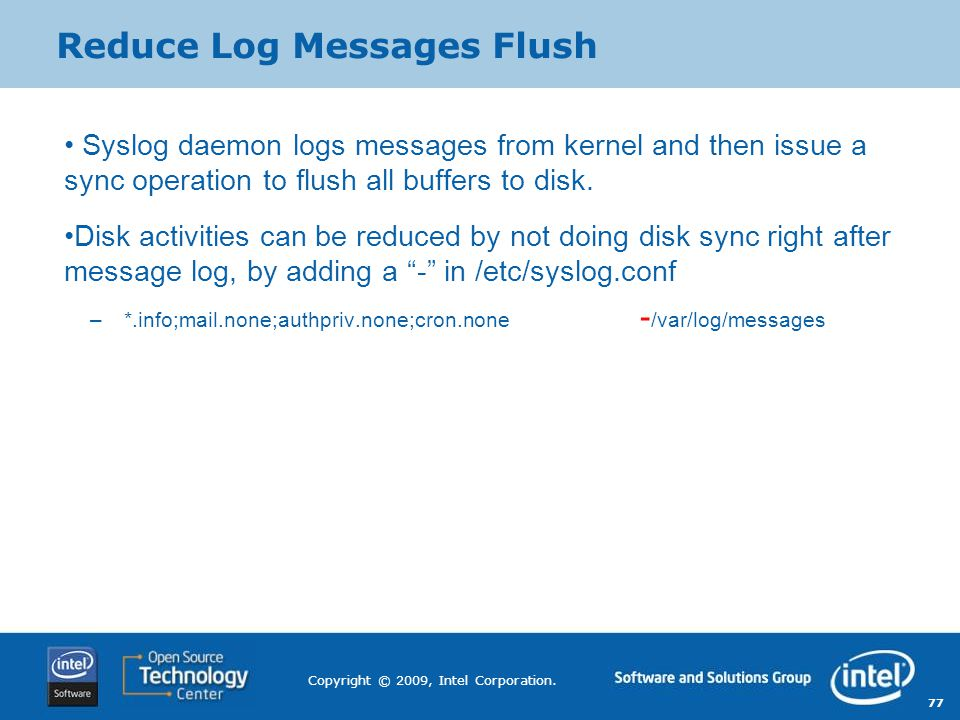 Reduce Log Messages Flush