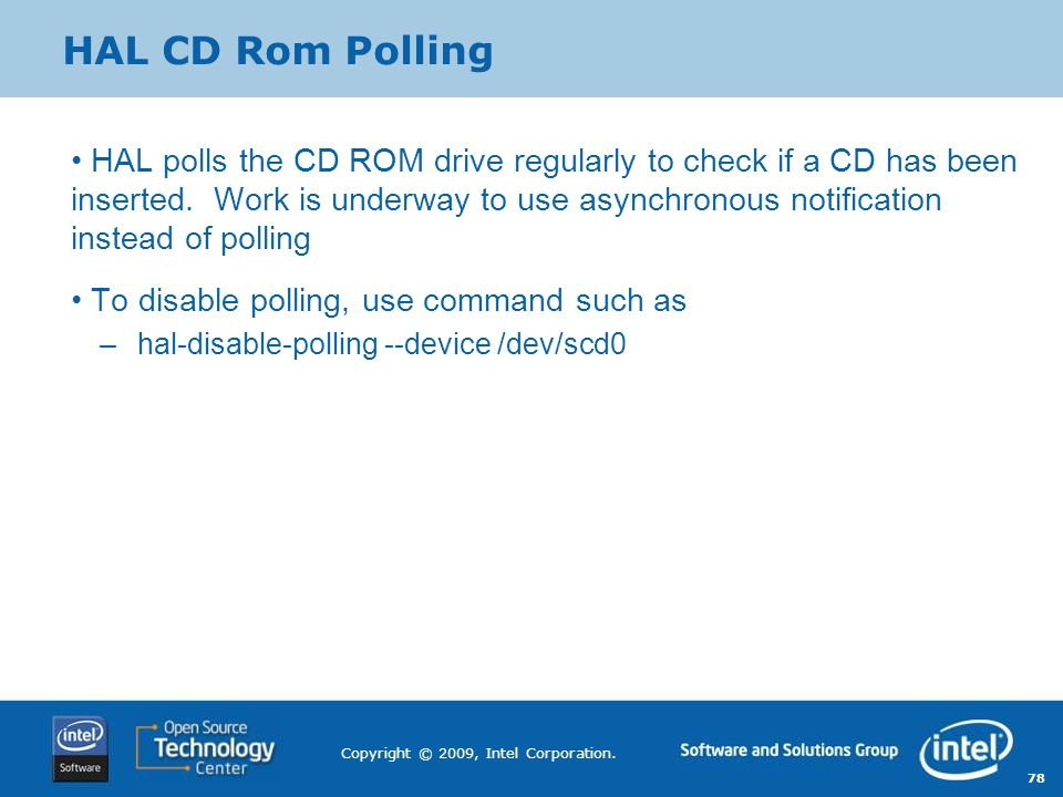 HAL CD Rom Polling