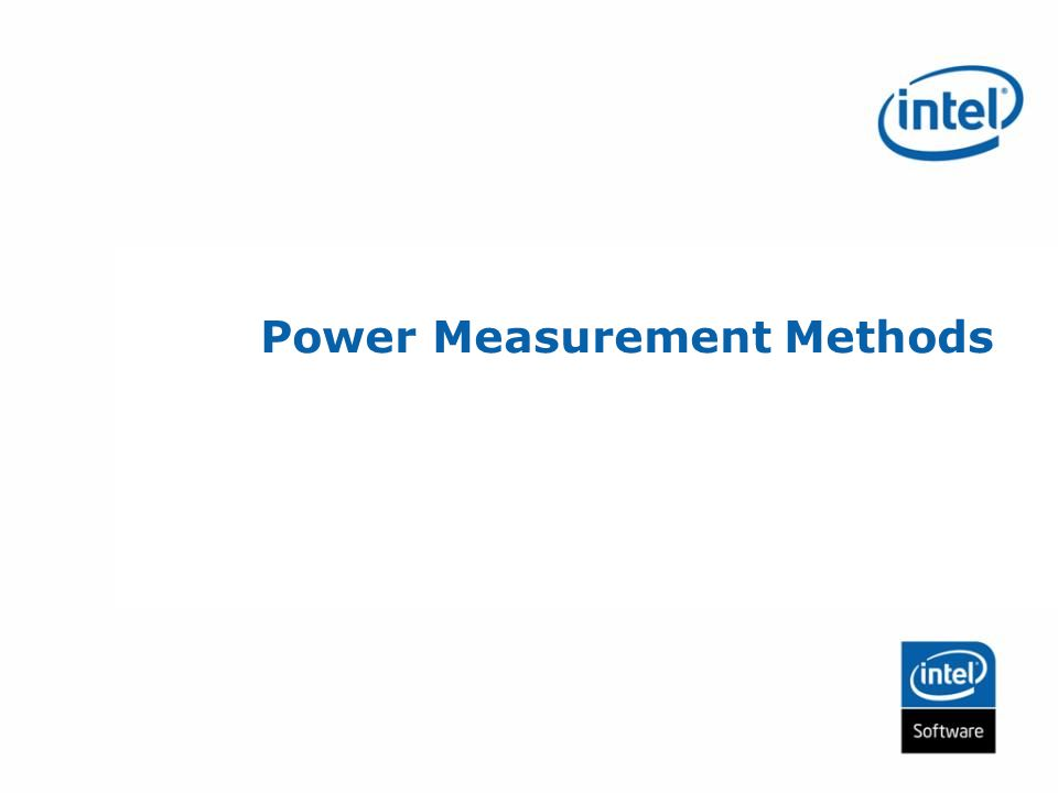 Power Measurement Methods
