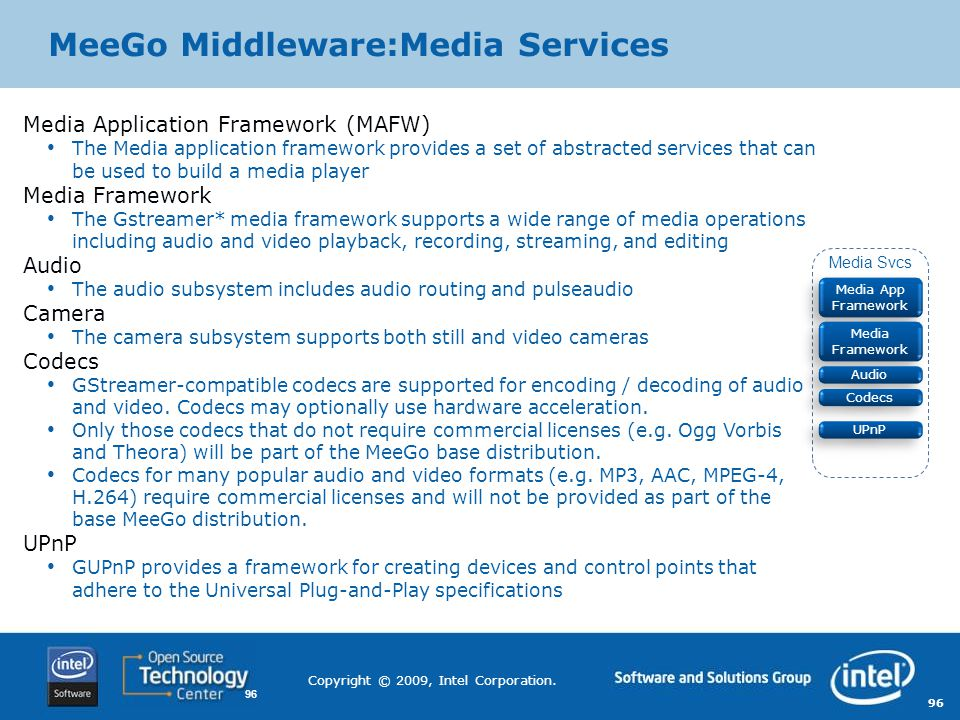 MeeGo Middleware:Media Services
